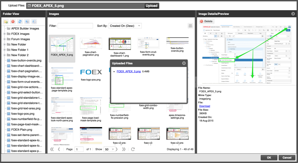 FOEX v2.1.0 Custom Image Browser for the CKEditor