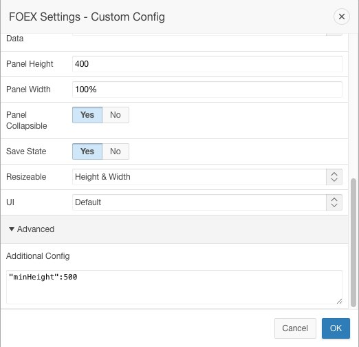 FOEX Scrollable Pane - Settings Custom Config